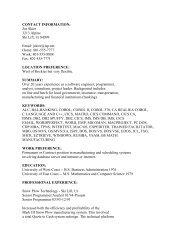 (ASCII Text) resume example