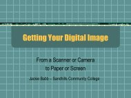 Getting Your Digital Image - Sandhills Community College