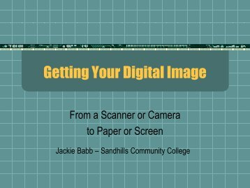 Getting Your Digital Image - Sandhills Community College