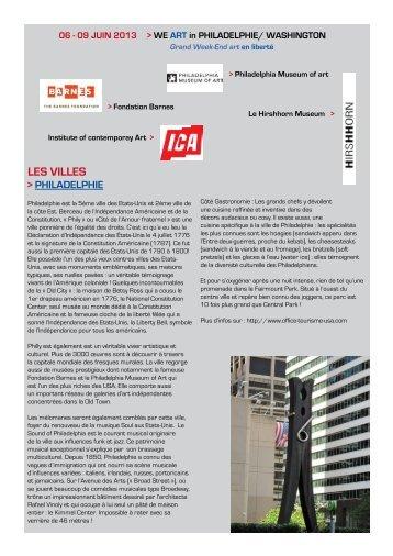 LES VILLES - Connaissance de l'Art Contemporain