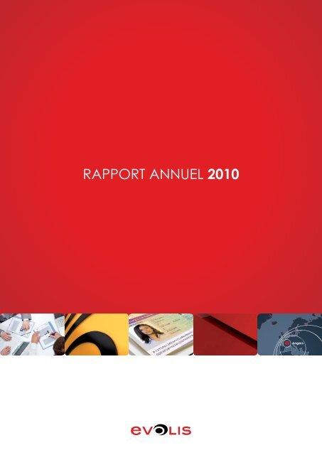 RAPPORT ANNUEL 2010 - Evolis