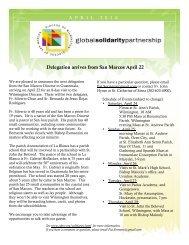 Delegation arrives from San Marcos April 22 - Catholic Diocese of ...
