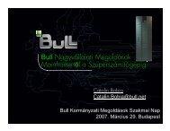Bull Nagyvállalati Megoldások Mainframe-től a Szuperszámítógépig