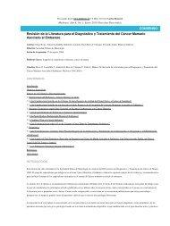 Revisión de la Literatura para el Diagnóstico y Tratamiento del ...