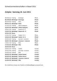 Zeitplan Samstag 18. Juni 2011 Schweizermeisterschaften in Basel ...