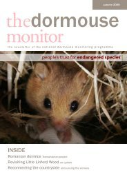 The Dormouse Monitor Autumn 2009 - People's Trust for ...