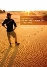 Community Strategic Plan 2012 - 2022 - Wentworth Shire Council