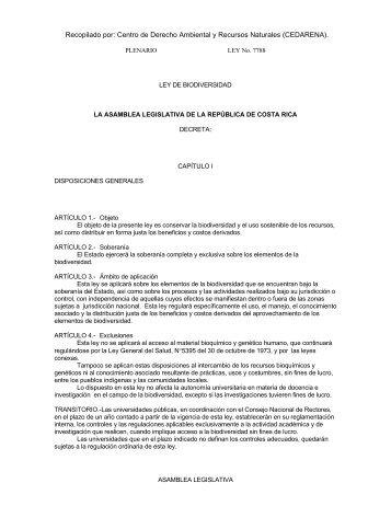 Centro de Derecho Ambiental y Recursos Naturales (CEDARENA).