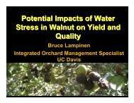 Factors affecting yield ans quality - Kings County