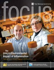 (micro)Environmental Impact of Inflammation - The Wistar Institute