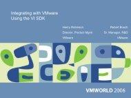 Integrating with VMware Using the VI SDK