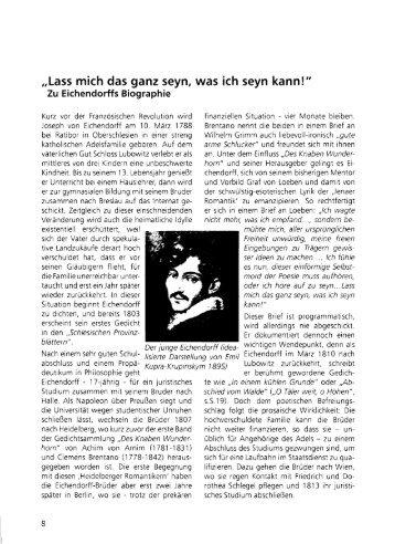 Eichendorff-Biographie - Bachchor Tübingen