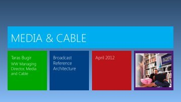 Broadcast Reference Architecture - Microsoft