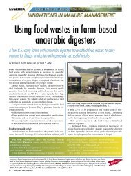 Using food wastes in farm-based anaerobic digesters - Manure ...