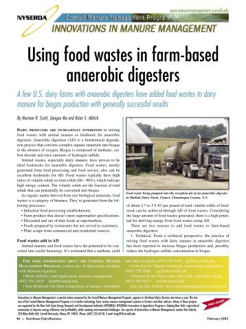 Feasibility Study of Anaerobic Digestion of Food Waste in St
