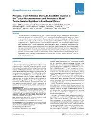 Periostin, a Cell Adhesion Molecule, Facilitates Invasion in the ...
