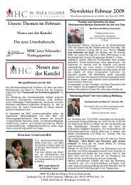 Neues aus der Kanzlei - bei MHC