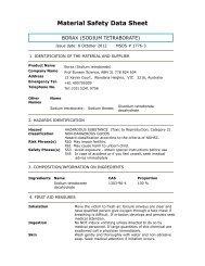Material Safety Data Sheet - Prof Bunsen