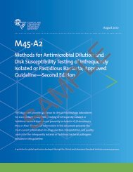 M45-A2: Methods for Antimicrobial Dilution and Disk ... - NetSuite