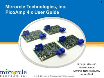 Mirrorcle Technologies, Inc. PicoAmp 4.x User Guide
