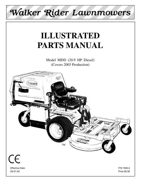 MDD Parts Manual.book - Walker MowersYumpu