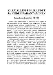 Karmalliset sairaudet ja niiden parantaminen, 5.2.1933. - Pekka Ervast