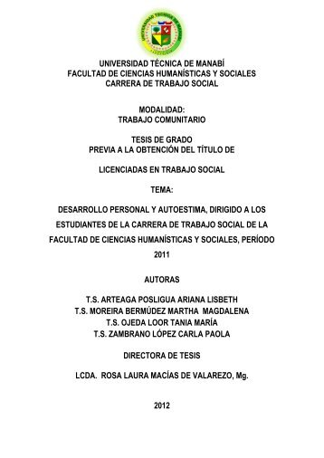 trabajo comu - Repositorio UTM - Universidad Técnica de Manabí