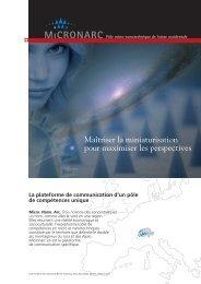 Micronarc Brochure - Français