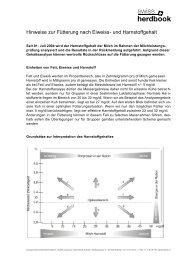 Hinweise zur Fütterung - Swissherdbook