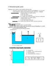 6. Mechanika kapalin a plynů