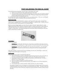 POST-SOLDERING TECHNICAL GUIDE - Jensen Dental