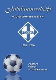 Jubiläumsschrift - FC Großalmerode