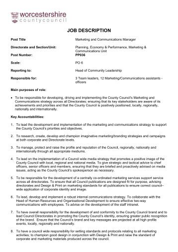 Temporary Head Of Commercial Marketing Final Jd   The Fairtrade