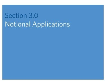 Section 3.0 Notional Applications - Johns Hopkins Center for ...