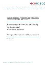 Anhang zum Schlussbericht - econcept AG
