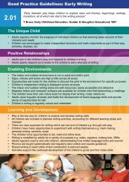 2.01 Good Practice Guidelines: Early writing - Children's Centres