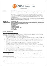 JOB DESCRIPTION JOB DESCRIPTION Job Title: Account Director ...