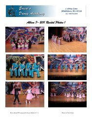 Album 7– 2011 Recital Photos 1 - Erica's Dance Academy