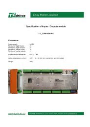 Manual TG_I/O - TG Drives