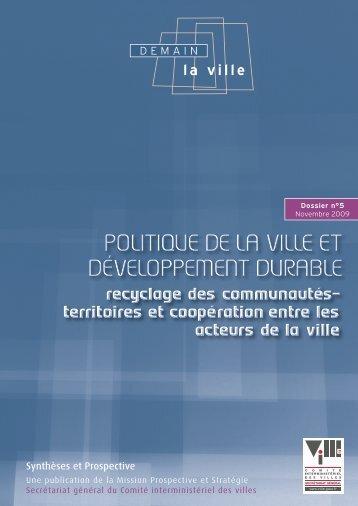 POLITIQUE DE LA VILLE ET DéVELOPPEMENT DUrAbLE ...