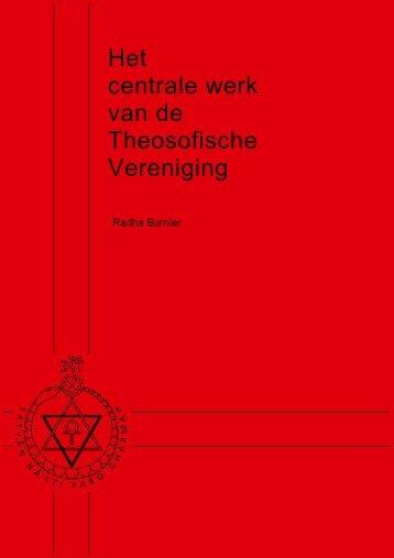 Het centrale werk van de Theosofische Vereniging