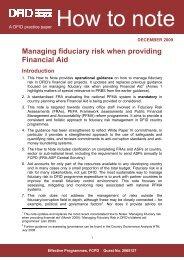 Managing fiduciary risk when providing financial aid - Capacity4Dev