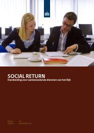 Handleiding Social Return bij het Rijk - Pianoo