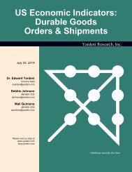 Durable Goods Orders & Shipments - Dr. Ed Yardeni's Economics ...
