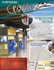 Metrolink Ticket Vending Machines Now Sell Amtrak Tickets