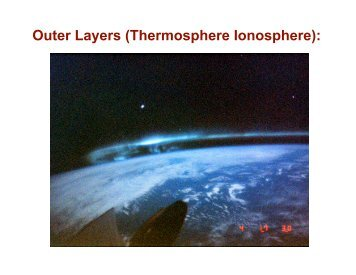 Outer Layers (Thermosphere Ionosphere): - Earth and Space Sciences