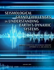 SeiSmological grand challengeS in UnderStanding earth'S dynamic ...