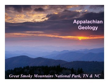 Appalachian Geology