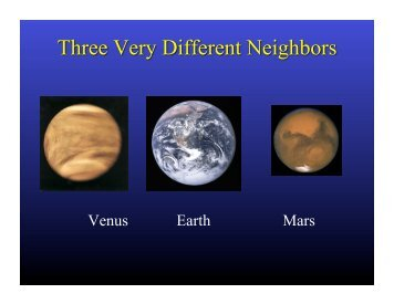 Venus Earth Mars - Earth and Space Sciences