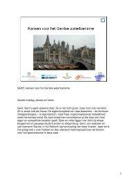 Kansen voor het Gentse watertoerisme - Watererfgoed Vlaanderen